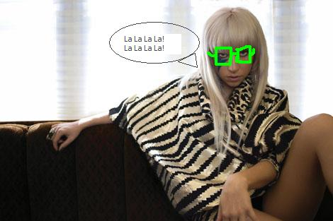 Lady Gaga Glasses. Lady GaGa has lost her Versace